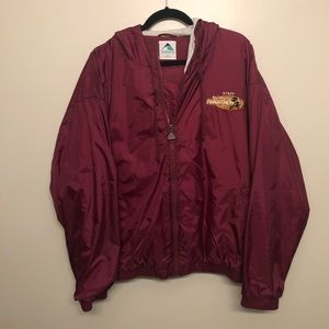 Disney marathon staff windbreaker jacket maroon 04